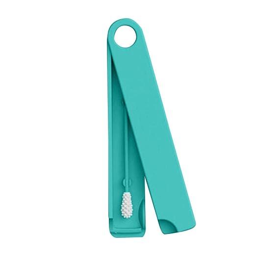 Wattest/äbchen letzte Tupfer ist wiederverwendbar Q-Tip Tupfer,Ewendy Wattest/äbchen der zum Reinigen von Kosmetika und Ohren verwendet Wird,Aus medizinischem Silikon,unverzichtbare Kosmetik Blau