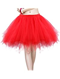 Women's 1950's Vintage Tutu Ballet Bubble Dance Skirt Tulle Petticoat for Big Girl