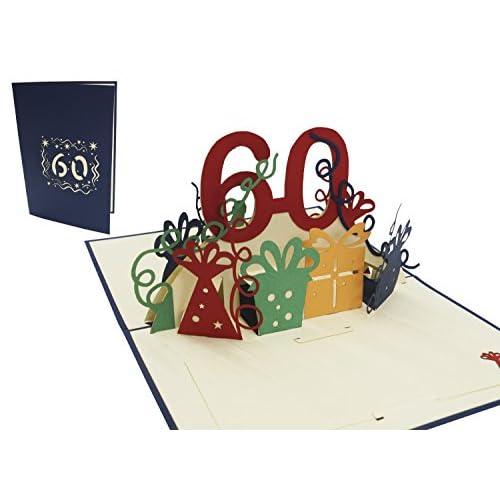 60e Anniversaire Papier d/'emballage X 2 Feuilles Blanc /& Multi