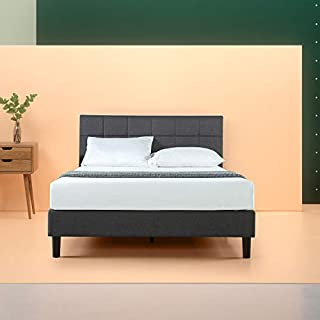 Zinus Lottie Upholstered Square Stitched Platform Bed / Mattress Foundation / Easy Assembly / Strong Wood Slat Support, Queen (B00W4DCTK0) | Amazon Products