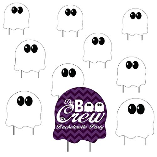 VictoryStore Halloween Bachelorette: Custom Boo Crew Bachelorette Yard Decoration Include Stakes (Purple)