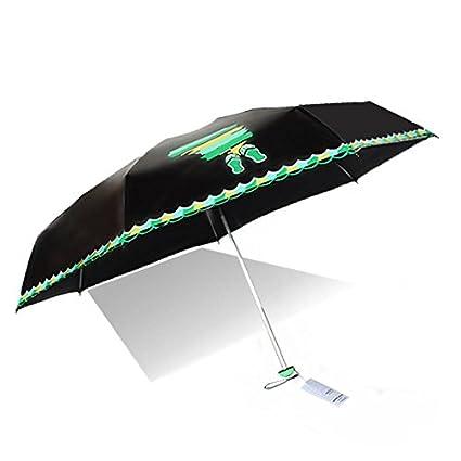 Paraguas plegable automatico Mujer niño Hombre an- Five Fold Mini UV Protection - Sombrilla Parasol