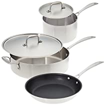 American Kitchen - Make Enough for Leftovers Stainless Steel Cookware Set – 5 piece