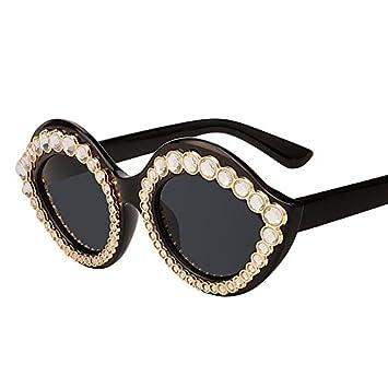 TIANLIANG04 Gafas de Sol Elegantes con Piedra de Cristal ...