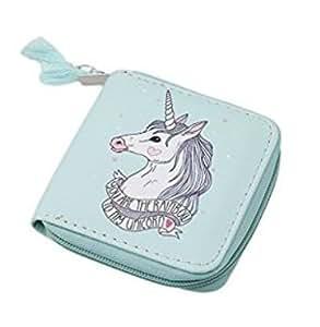 chinget Unicorn patrón niñas Monedero estudiantes dibujos animados con cremallera moneda bolso cartera (color rojo) verde verde 2