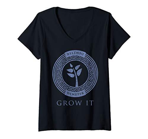 Womens Greek Goddess Shirt Demeter Grow It Plant