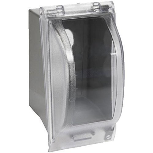 Red Dot 1-Gang Extra Duty Non-Metallic While-In-Use Weatherproof Horizontal/Vertical Receptacle Cover with Wasp Guard by Thomas & Betts