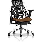 Herman Miller Sayl Task Chair: Tilt Limiter - Stationary Seat Depth - Height Adj Arms - Hard Floor Casters - Polished...