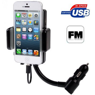 Generic 3 in 1 All Channel FM Transmitter Hands Free Car Charger Kit for iPhone 5