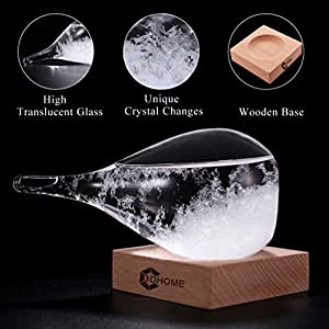 3D HOME Storm Glass Weather Stations Water Drop Weather Predictor Creative Forecast Nordic Style Decorative Weather Glass from 3D HOME®