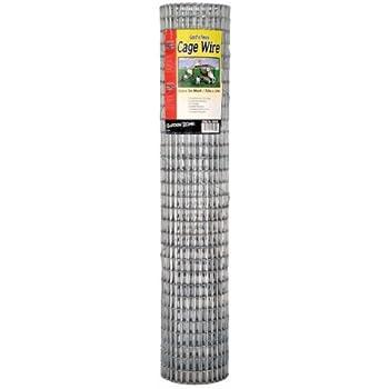 """Garden Zone 403010 1/2"""" x 1"""" Mesh 16-Gauge Galvanized Wire Fence, 30"""" x 10'"""