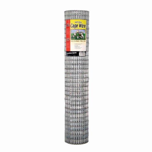 """Garden Zone 403010 1/2"""" x 1"""" Mesh 16-Gauge Galvanized Wire Fence, 30"""" x 10"""