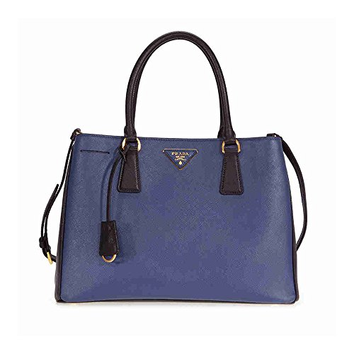 Prada-Lux-Saffiano-Leather-Tote-Blue-and-Black