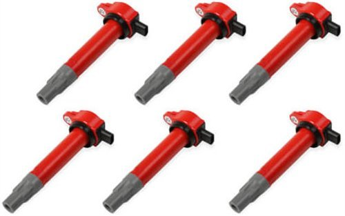 MSD 82726 Coils, Red, Chrysler V6 '06-'10, 6-Pack