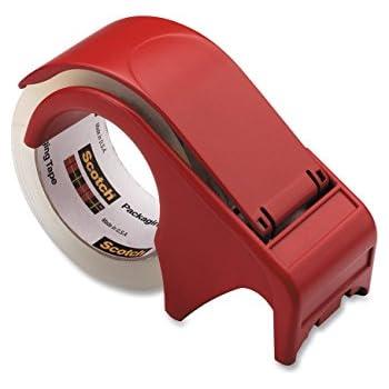 Scotch® Packaging Tape Hand Dispenser DP300-RD, 2-PACK