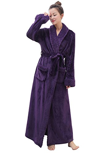 Hellomamma Womens Fleece Bathrobes Dressing