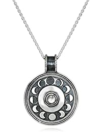 Moonstone Moon Phase (30-Inch) Pendant Necklace