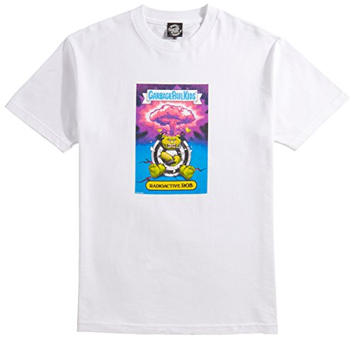 Santa Cruz X Garbage Pale Kids Radioactive Rob T-Shirt - White - - Pale Kids
