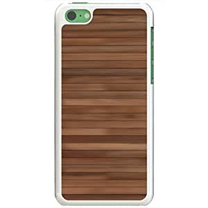 Apple iPhone 5C Cases Customized Gifts Of 3D Graphics Wood Pattern 3d Abstract White