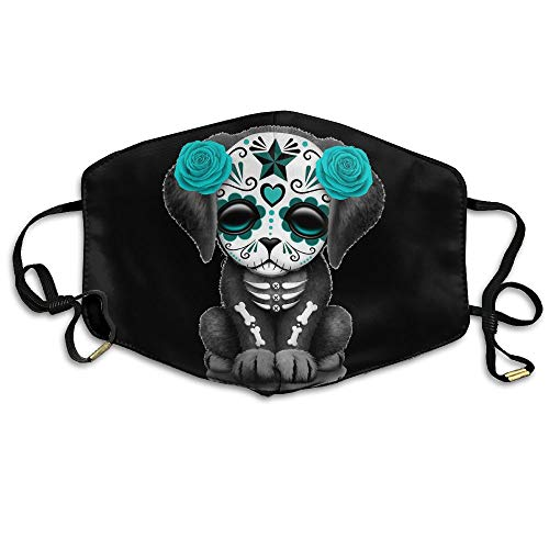Cute Day The Dead Sugar Skull Dog Stars Printed Anti Dust Face Mask,Reusable Warm Windproof Mouth Mask