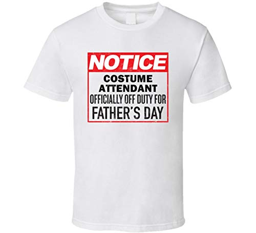 Costume Attendant Occupation Off Duty T Shirt L White -