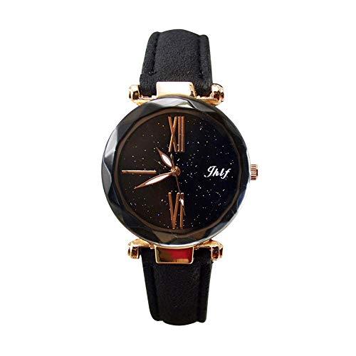 Pocciol 2019 Luxury Watch Womens Casual Watch with Leather Strap Band Analog Quartz Starry Sky Wristwatch for Ladies (Black) by Pocciol Cheap-Nice Watch (Image #3)