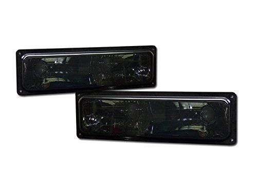 SMOKE CLEAR LENS SIGNAL BUMPER LIGHTS LAMPS DY 88-99 CHEVY GMC C10 C/K TRUCK/SUV