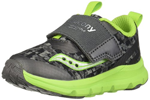 Saucony Boys' Baby Liteform Sneaker, Grey/Green, 9 Medium US Toddler
