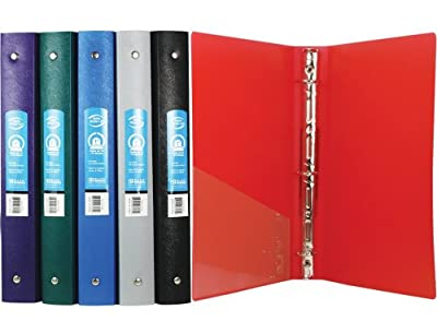 "BAZIC 1"" Matte Color Poly 3-Ring Binder w/ Pocket (Case of 48) by Bazic Stationery/Bangkit USA Corporation"