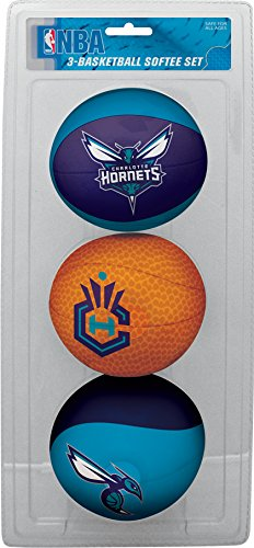 NBA Charlotte Bobcats Kids Softee Basketball (Set of 3), Small, Blue