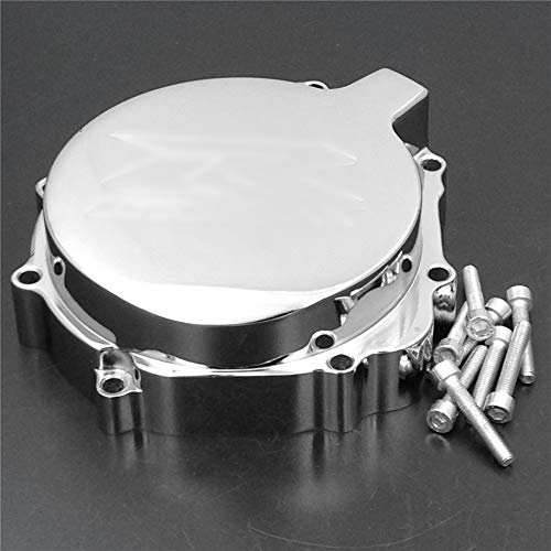 HTT- Billet Aluminum Engine Stator Cover Custom Made For 2004-2005 Suzuki GSXR 600 750 / 2003-2004 Suzuki GSXR1000 Chrome ()