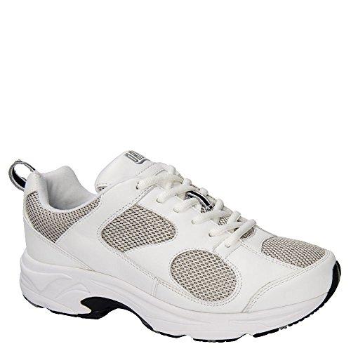 Drew Shoe Women's Flash II Athletic Sneakers, White Leather, Mesh, 12.5 XW - Drew Womens Flash