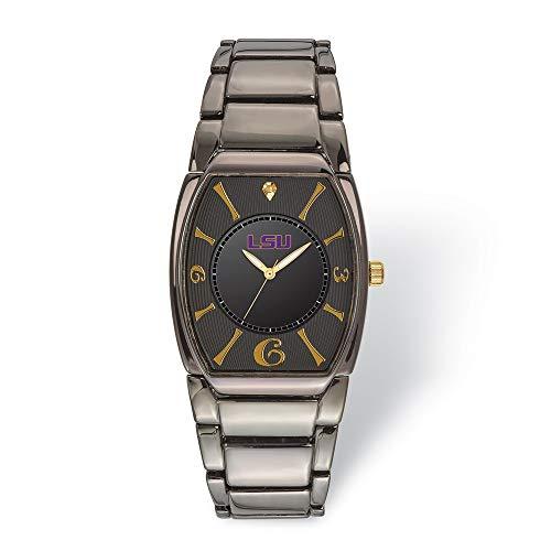 (Jewels By Lux LogoArt Louisiana State University Executive Black-Plated Watch)