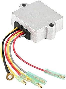 Amazon.com: Voltage Regulator Rectifier 6 Wire for Mercury Mariner Outboard  40 50 55 60 75 90 100 115 125 135 150 175 200 250 275 HP Replace 815279-3  815279-5 815279T 830179-2 830179T 854515 856748 883072 883072T: AutomotiveAmazon.com