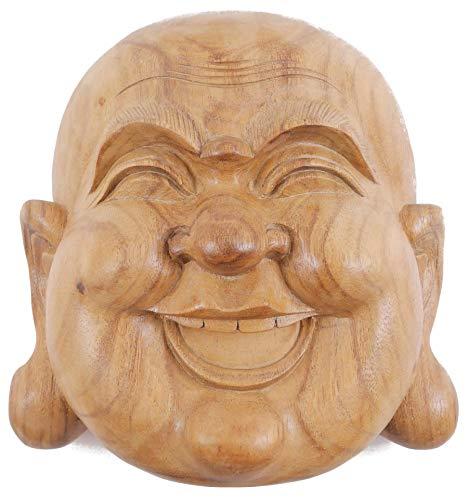 Máscara de Buda H20cm madera en bruto: Amazon.es: Hogar