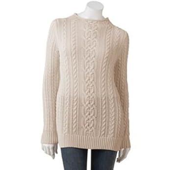 2da68bd20db32c Amazon.com   Croft   Barrow Womens Cable-Knit Sweater
