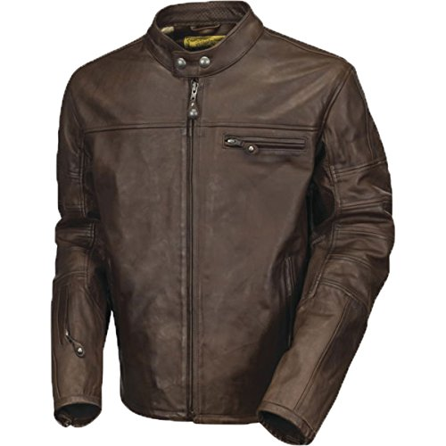 Roland Sands Design Apparel Men's Roland Sands Design Ronin Tobacco Leather Jacket 0800-04L0-1002