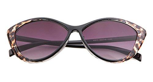 de motif Noir soleil chat de Lunettes Monture nbsp;mm léopard style femme pour yeux 52 zdOFqR1