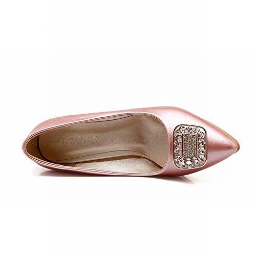 Mee Shoes Damen modern süß populär speziell Heel spitz Strass Geschlossen Pumps Pink