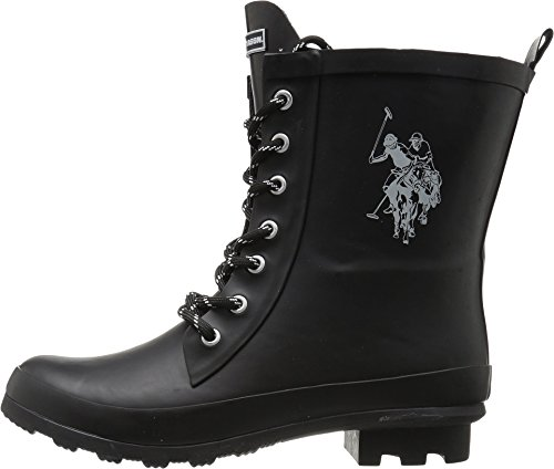 U.S. Polo Assn. Womens Jacky Rain Boot Black/white GTDarRzyh0