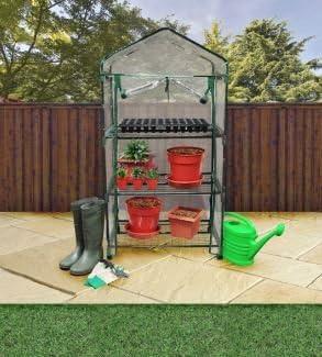 Nuevo Invernadero Jardín marco frío – Estantería de 3 baldas verduras Roll Up para ruedas: Amazon.es: Jardín