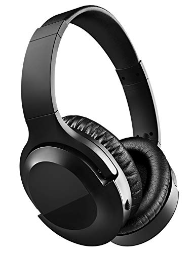 VantInter H3 Active Noise Cancelling Bluetooth Over-Ear Headphones Wired, Enhanced Bass, 20 Hours Playtime, Wireless ANC Headsets with Microphone