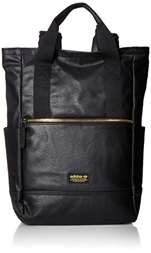 adidas Originals Premium Tote Backpack, Black/Gold Lurex, One Size