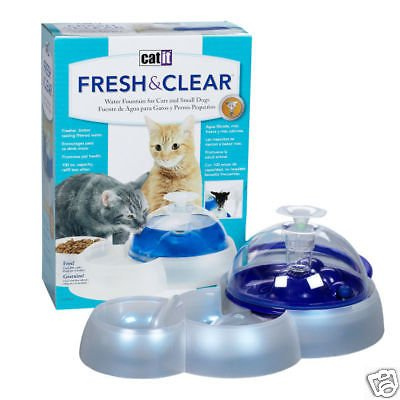 Catit Cat Puppy Waterer Fountain + Food Dish