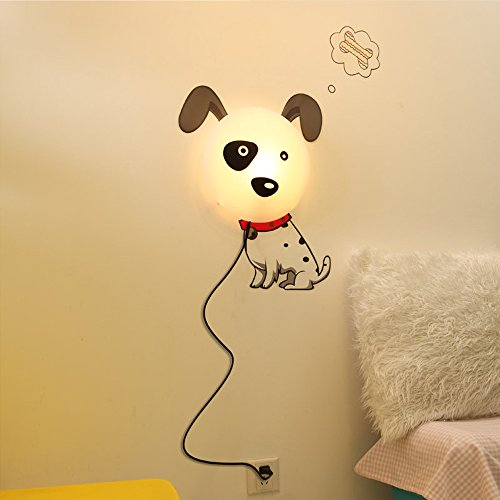 . EiioX Baby LED Night Light with DIY Cute Puppy Wallpaper Sticker for