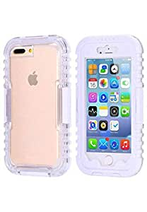 Heavy Duty Waterproof Case Cover with Built-in Screen Protector for iPhone 7 Plus in White