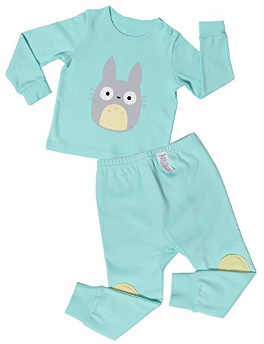 UniFriend Baby and Little Girls' 2 Piece Cotton Pajama Totoro US 6~12M/Asia 80 (KGSPJ026)