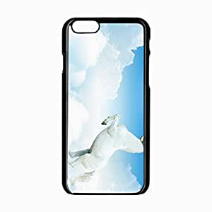 iPhone 6 Black Hardshell Case 4.7inch horse clouds jump Desin Images Protector Back Cover