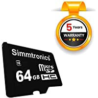 Simmtronics MicroSD 64 GB Class 10 Memory Card, 5 Years Warranty