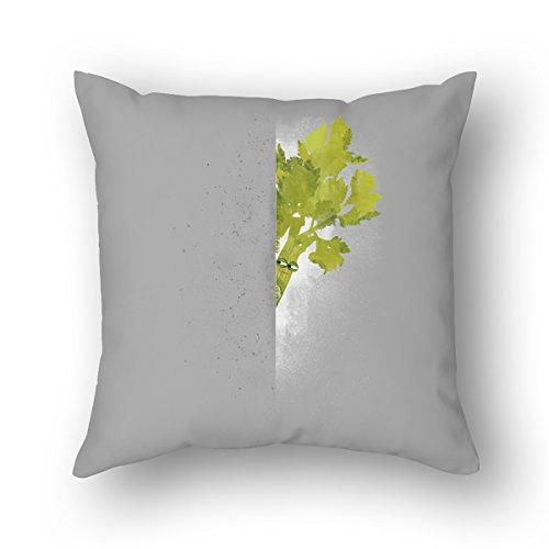 AnFuK Celery Stalker Standard Throw Pillowcase Square Pillow Cover 18x18 Inch